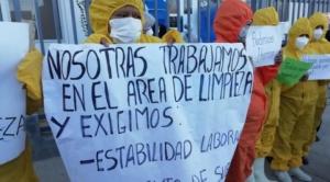 Trabajadores del hospital Salomon Klein de Sacaba protestan por ítems y mejores condiciones