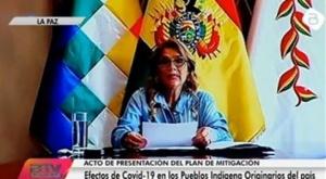Añez presenta plan de mitigación de efectos del Covid-19 para más de 62.000 familias indígenas 1