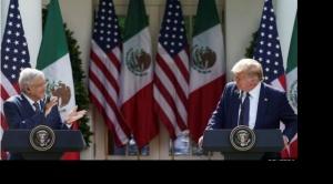 El agradecimiento de AMLO a Trump y otros momentos llamativos del encuentro de ambos presidentes en la Casa Blanca