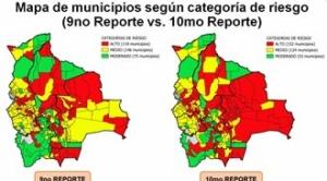 El 45% de los municipios del país ya se encuentra en riesgo alto de contagio de Covid-19