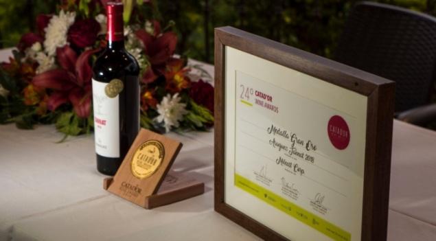 Vino Aranjuez Tannat ganó la medalla Gran Oro en el Catad'or 2019 en Chile